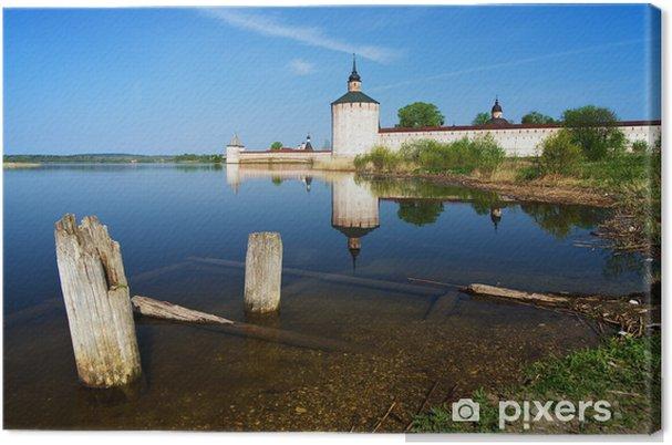 Tableau sur toile Monastère Kirillo-Belozersky et la rive du lac Siverskoye - Asie
