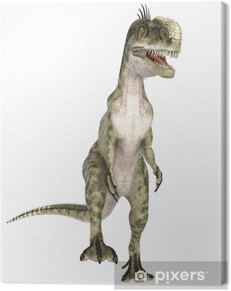 Tableau sur toile Monolophosaurus dino marcheur - Sticker mural