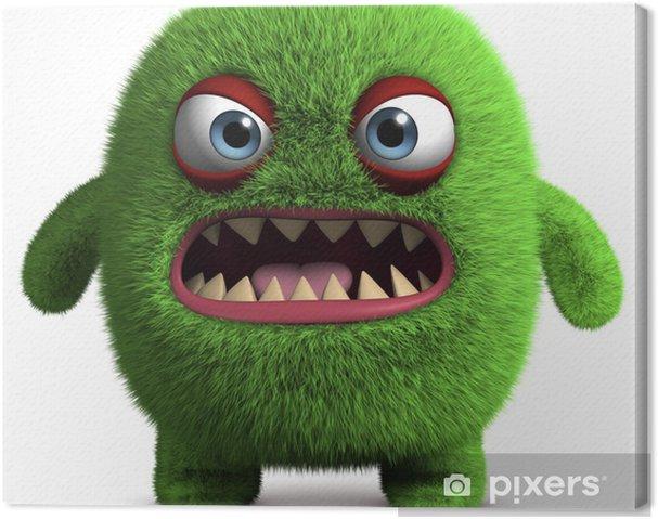 Tableau sur toile Monstre poilu mignon - Animaux imaginaires
