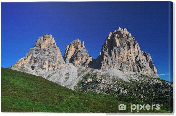 Tableau sur toile Montagne, Dolomites, Alpes, Italie - Vacances