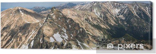 Tableau sur toile Montagnes de printemps panorama - Thèmes
