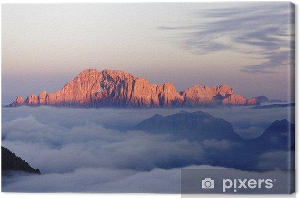 Tableau sur toile Monte Civetta Dolomiti - Temps