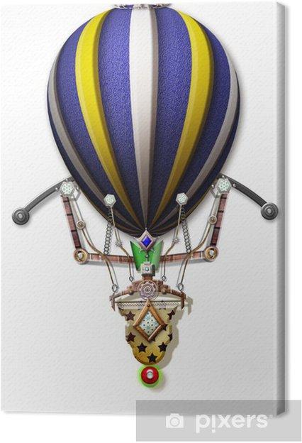 Tableau sur toile Montgolfière Steampunk - Steampunk