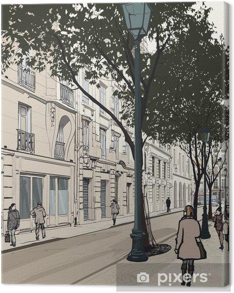 Tableau sur toile Montmartre à Paris - Thèmes