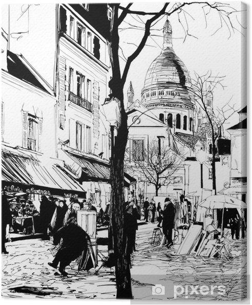 Tableau sur toile Montmartre en hiver - Thèmes