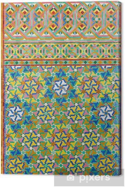Tableau sur toile Mosaïque arabe - Pays