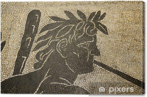 Tableau sur toile Mosaïque romaine. Vatican. II siècle après JC. - Bâtiments publics