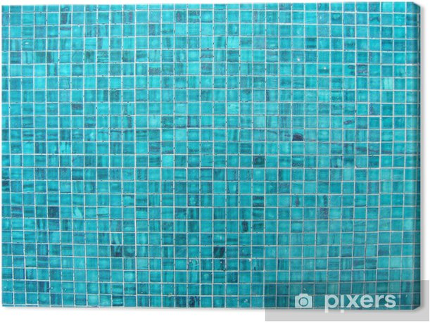 Tableau sur toile Mosaïques bleues - iStaging