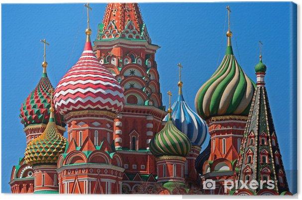 Tableau sur toile Moscou Saint-Basile cathédrale coupole - Moscou