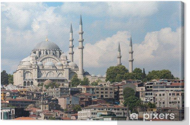 Tableau sur toile Mosquée avec minaret en arrière-plan d'un grand nombre de maisons - Moyen Orient