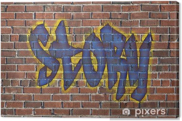 Tableau sur toile Mot de l'histoire comme un graffiti - Art et création