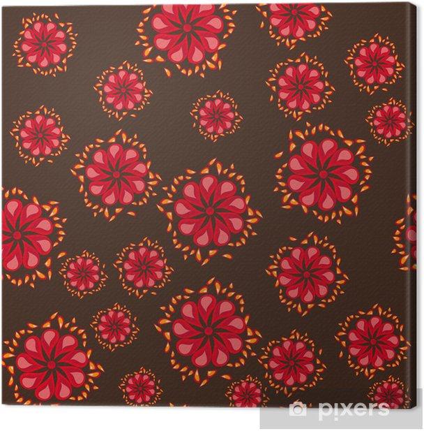Tableau sur toile Motif abstrait avec des fleurs - Saisons