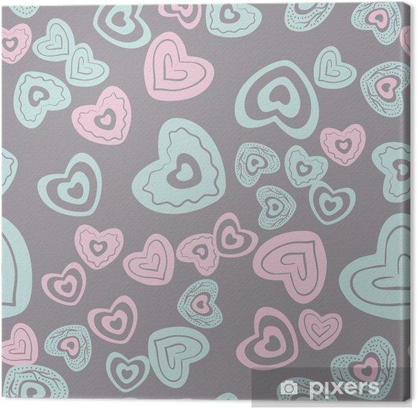 Tableau sur toile Motif de coeur sans soudure - Ressources graphiques