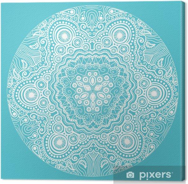 Tableau sur toile Motif de dentelle autour d'ornement, fond de cercle avec de nombreux detai - Arrière plans