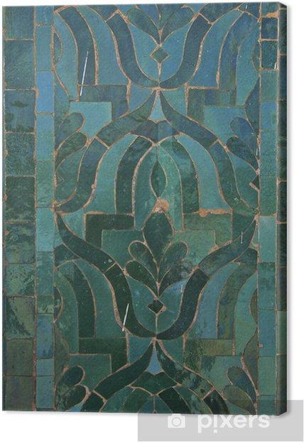 Tableau sur toile Motif de la tuile marocaine - Afrique