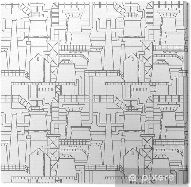 Tableau sur toile Motif de la ville industrielle - Ressources graphiques