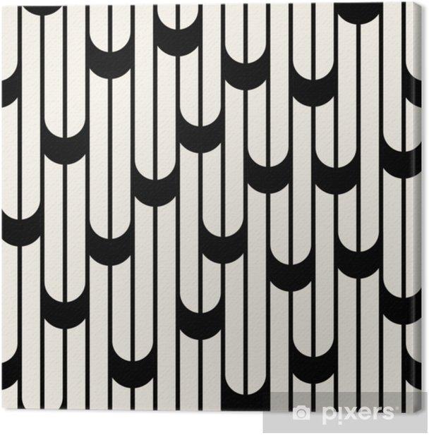 Tableau sur toile Motif de lignes design graphique minimaliste abstrait noir et blanc géométrique - Ressources graphiques