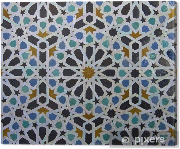 Tableau sur toile Motif de tuile zellige marocain - Carreaux