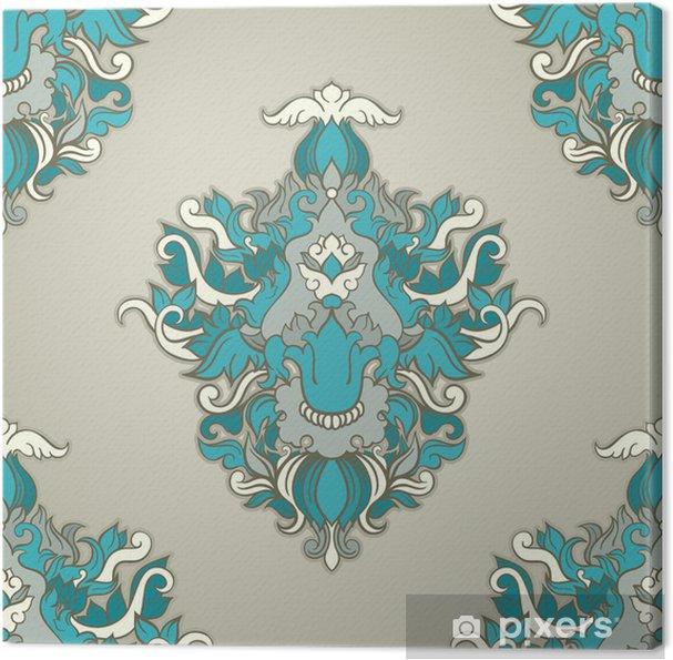 Tableau sur toile Motif feuillage bleu - Arrière plans