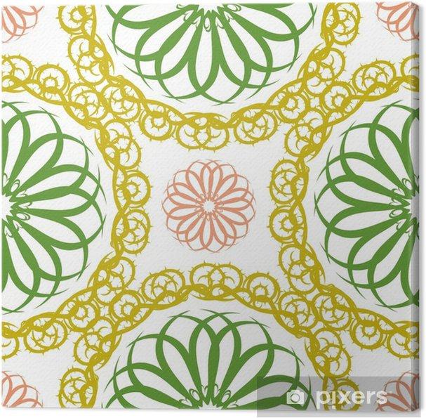 Tableau sur toile Motif floral abstrait sans soudure, modèle de mandala - Ressources graphiques