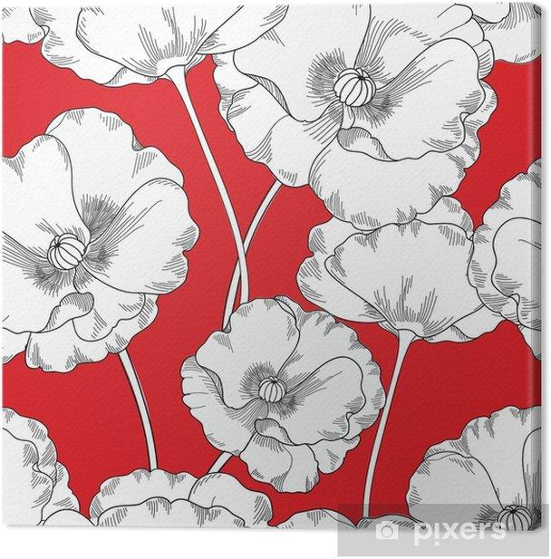Tableau sur toile Motif floral sans soudure. fond de fleur. ornement de carreaux de fleurs - Ressources graphiques