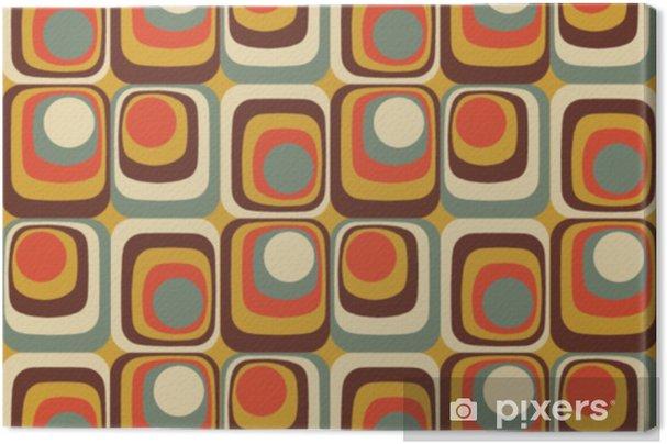 Tableau sur toile Motif géométrique sans soudure rétro vecteur coloré abstrait - Ressources graphiques
