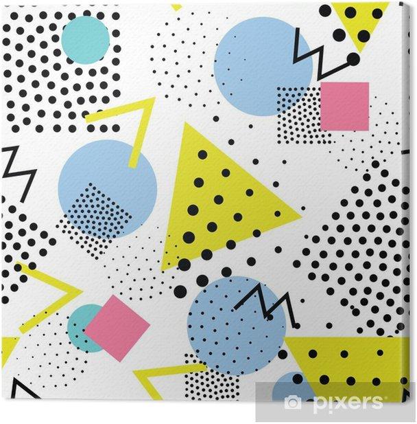 Tableau sur toile Motif géométrique Seamless dans le rétro, le style des années 80 memphis - Ressources graphiques