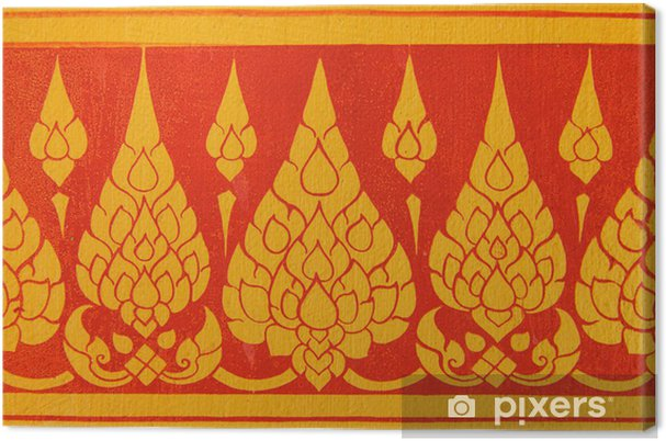 Tableau sur toile Motif Mur art thaï - Asie