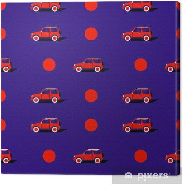 Tableau sur toile Motif pop art avec la voiture. - Transports