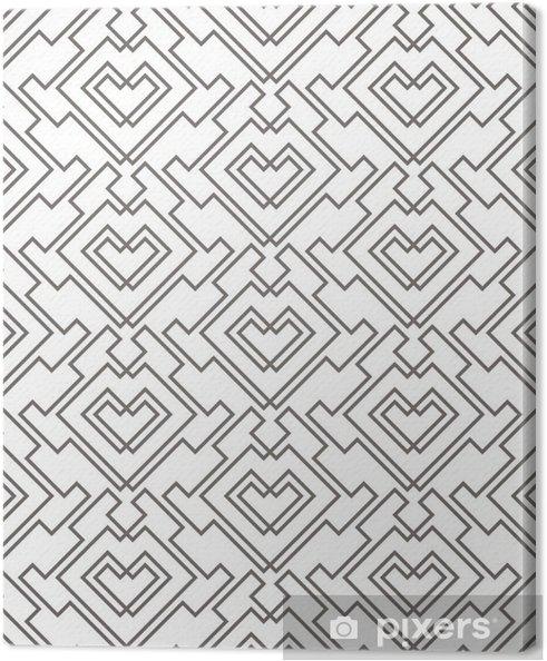 Tableau sur toile Motif sans soudure abstrait géométrique. arrière-plan de motif linéaire - Ressources graphiques