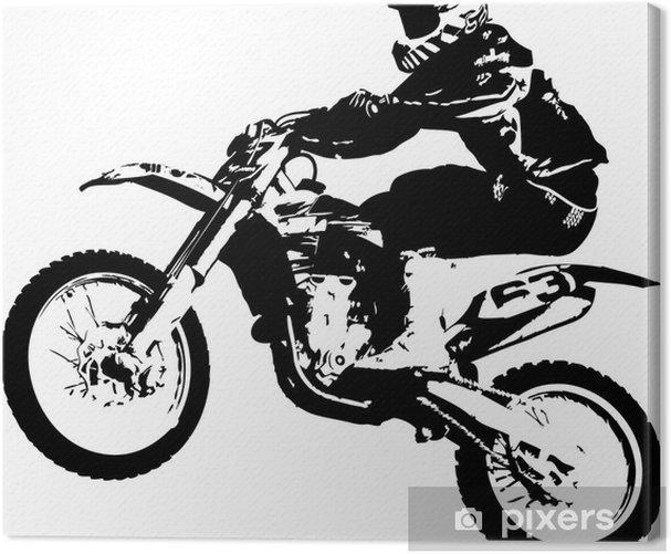 Tableau sur toile Motocross cavalier - Sticker mural