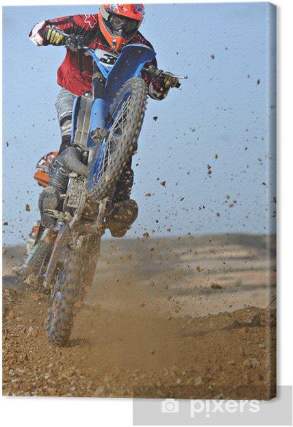 Tableau sur toile Motocross wheelie - Cyclisme