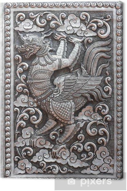 Tableau sur toile Moulage art traditionnel de style thaïlandais - Asie