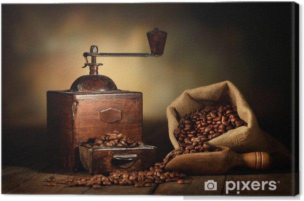 Tableau sur toile Moulin à café antique -
