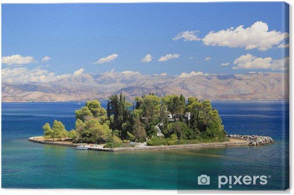 Tableau sur toile Mouse Island près de Corfou en Grèce - Europe