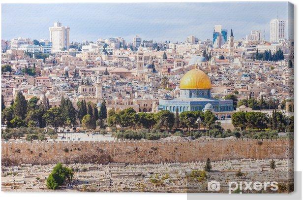Tableau sur toile Mousque d'Al-Aqsa dans la vieille ville - Jérusalem, Israël - Moyen Orient