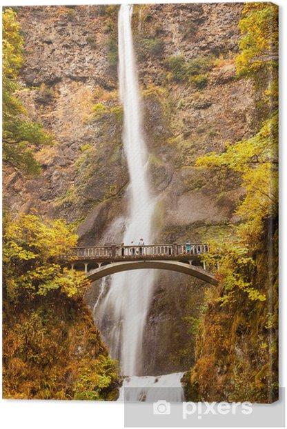 Tableau sur toile Multnomah cascade fleuve Columbia Gorge Oregon - Merveilles naturelles
