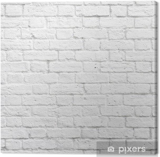 Tableau Sur Toile Mur Brique Blanc