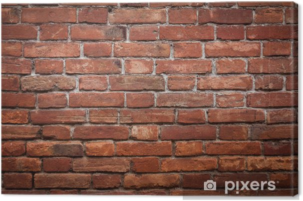 Tableau sur toile Mur de brique rouge vieux grunge texture - Thèmes