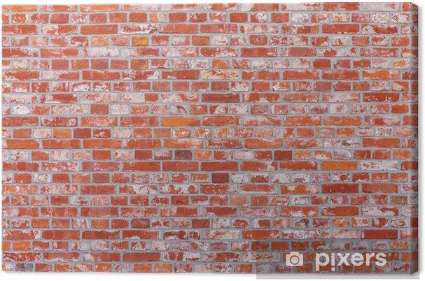 Tableau Sur Toile Mur De Briques De Couleur Rouge Pixers Nous