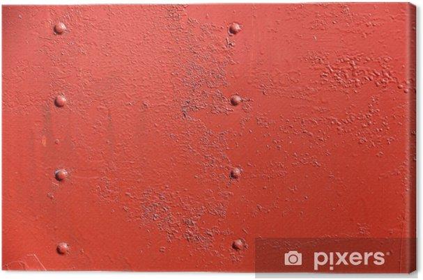 Tableau Sur Toile Mur De Fer Rouillé Recouvert De Peinture Pixers