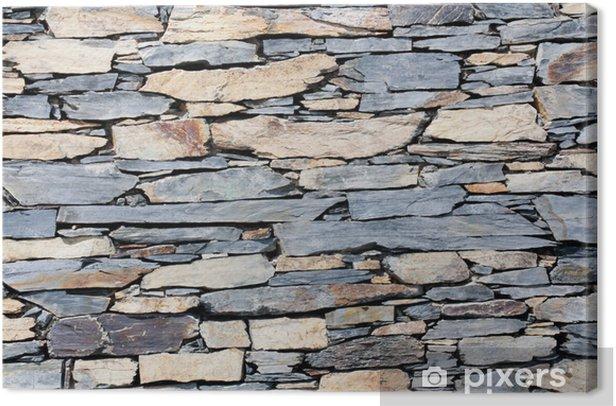 Tableau sur toile Mur de pierre - Textures