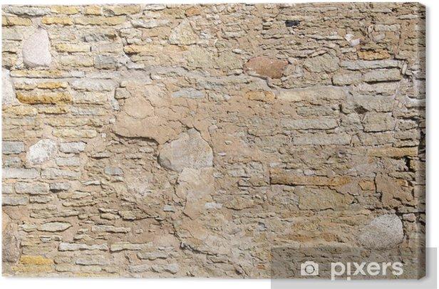 Tableau sur toile Mur en pierre médiéval - Textures