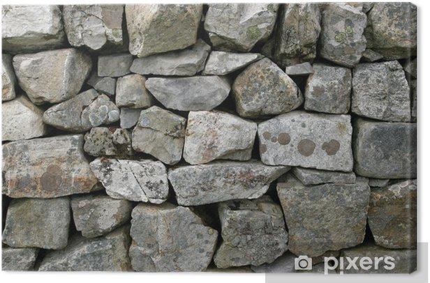Tableau sur toile Mur en pierre sèche - Textures