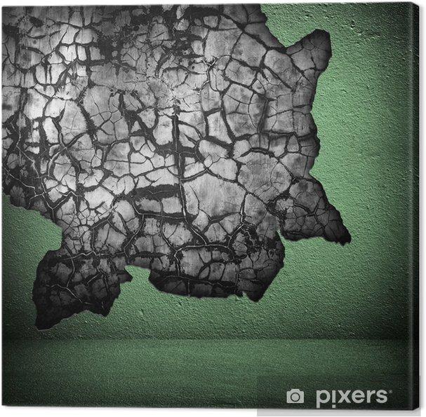 Tableau sur toile Mur fissuré - Vie