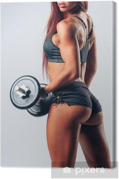 Tableau sur toile Musculation femme - Santé
