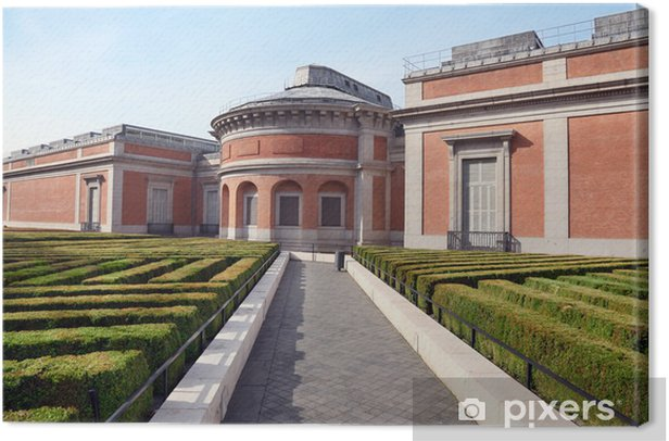 Tableau sur toile Musée del Prado jardin au printemps ensoleillé à Madrid, en Espagne. - Infrastructures