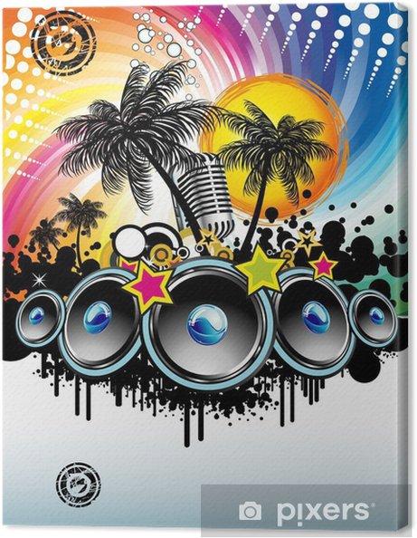 Tableau sur toile Music Event Discoteque Flyer - Divertissements