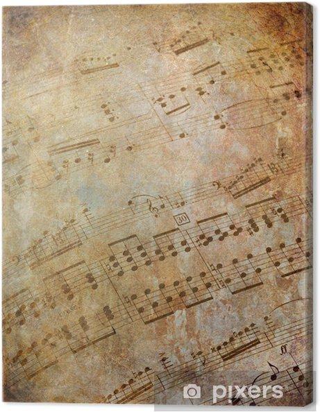 Tableau sur toile Musical scores grungy - Styles