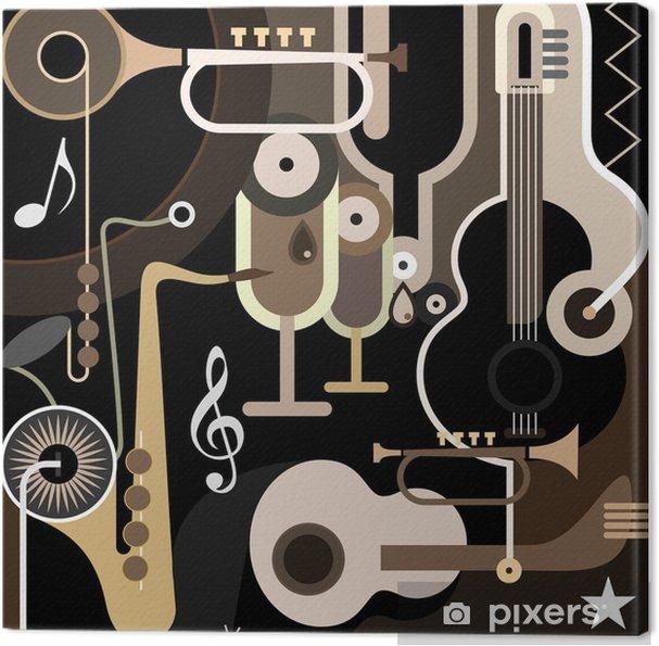 Tableau sur toile Musique de fond - illustration vectorielle abstraite - Jazz